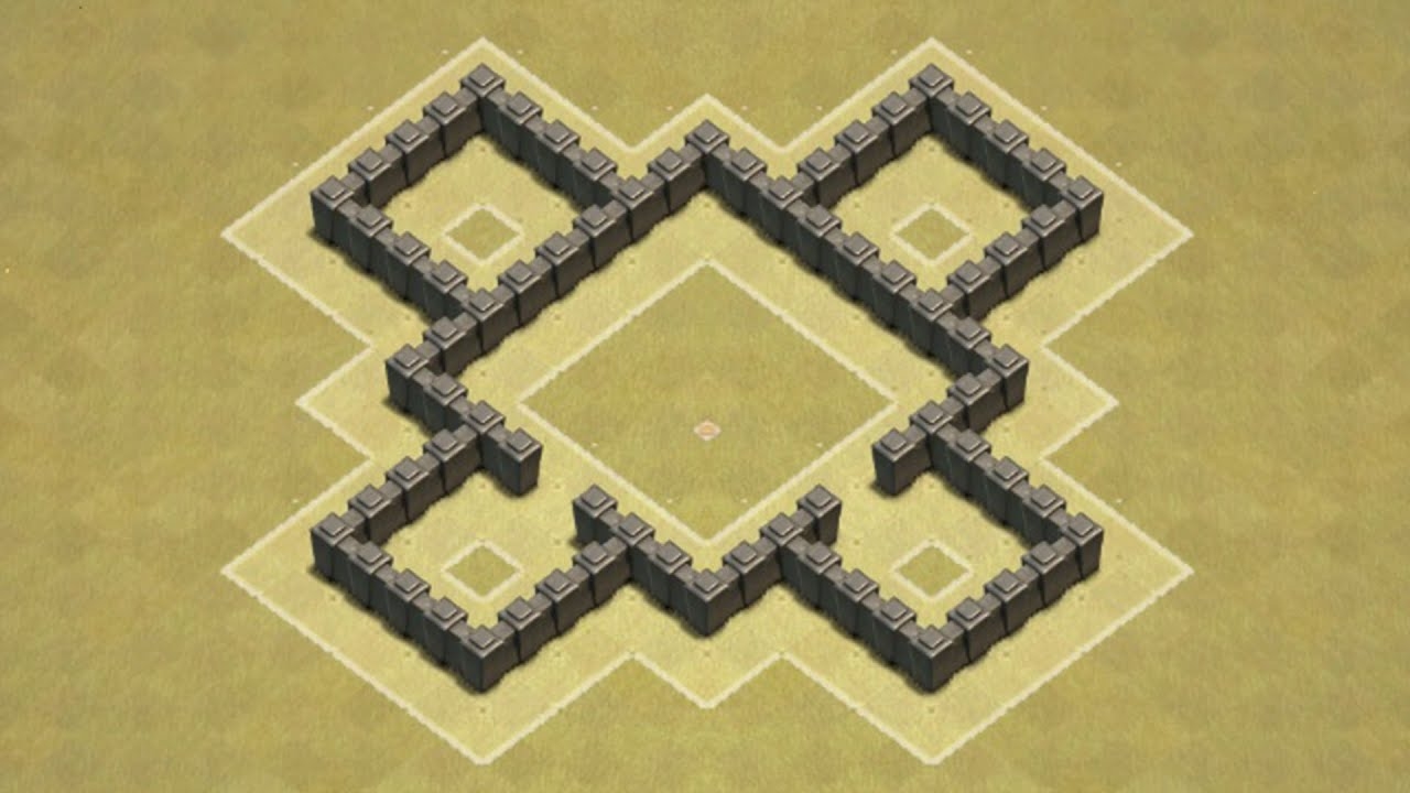 Of clans town hall 4 defense coc th4 best war base layout defense