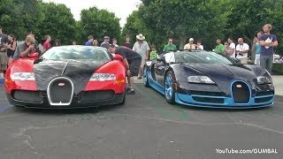 1200HP Bugatti Veyron Grand Sport Vitesse - Start up + Revs!