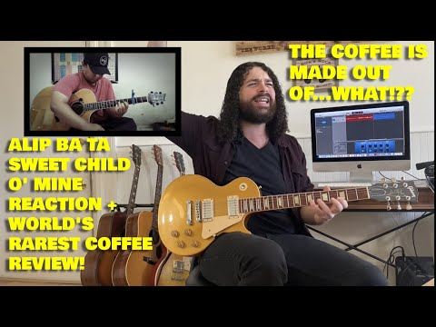 Alip Ba Ta – SWEET CHILD O' MINE REACTION + Indonesian Coffee Review! [Dog, Coffee, & Guitars]