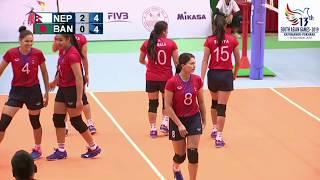 SAG WOMENS VOLLEY BALL NEPAL VS BANGLADESH HIGHLIGHTS