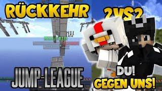 Die UNGLAUBLICHE Rückkehr von Jump-League! Du gegen mich und MrsDNA? | Minecraft Jump league