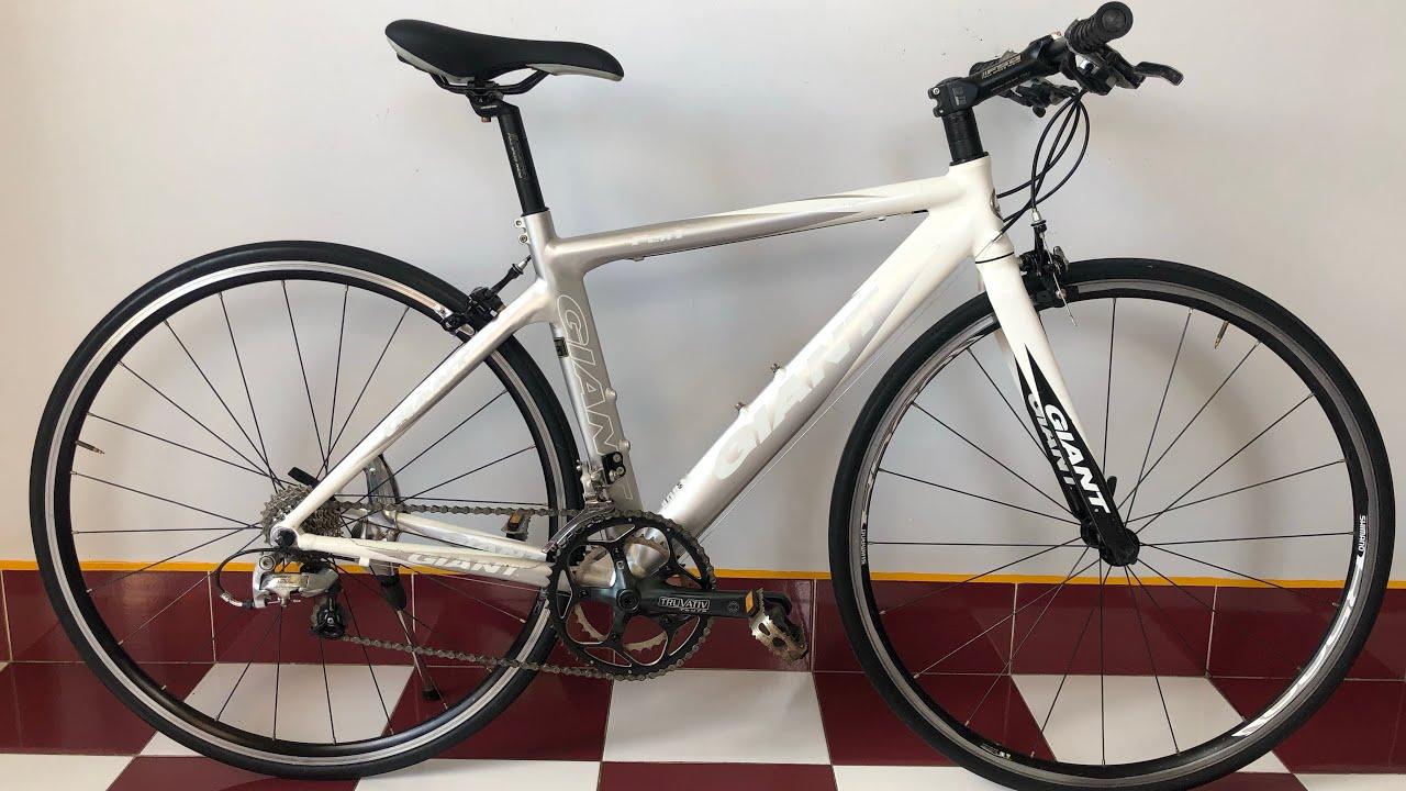 ĐÃ BÁN. xe đạp nhật bãi-GIANT FCR1-tiagra 2x9speed-