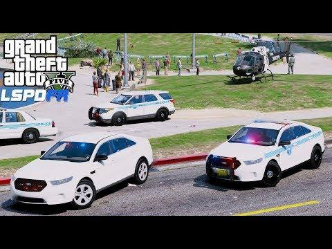 GTA 5 LSPDFR Police Mod #623 Social Media Unit Community Engagement Event - Miami Police Department