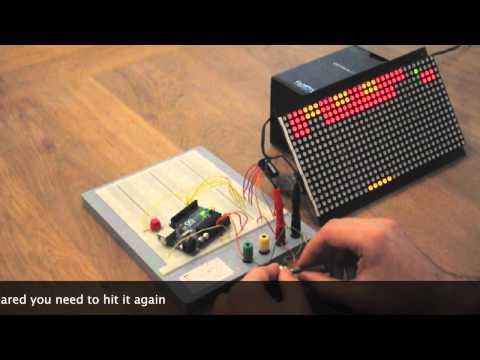Arduino Breakout Game on a LED dot matrix display