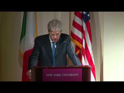 Il Presidente Gentiloni interviene alla New York University (19/09/2017)