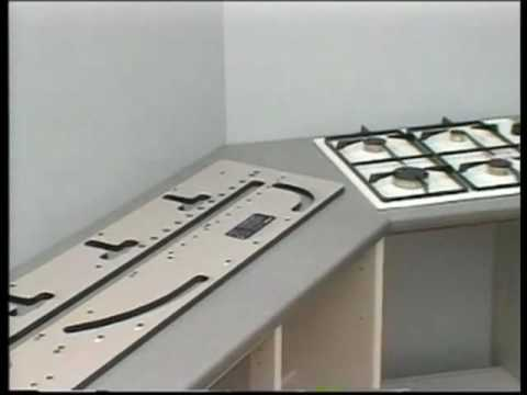Trend joining kitchen worktops part 1 youtube for Kitchen worktop cutting template