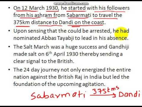 short note on dandi march