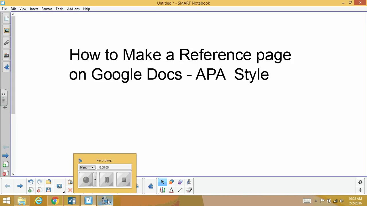 How To Make An APA Reference Page With Google Docs