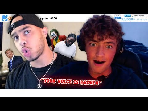 Switching my VOICE Mid-Conversation on OMEGLE ! #5 *Brain Melting*