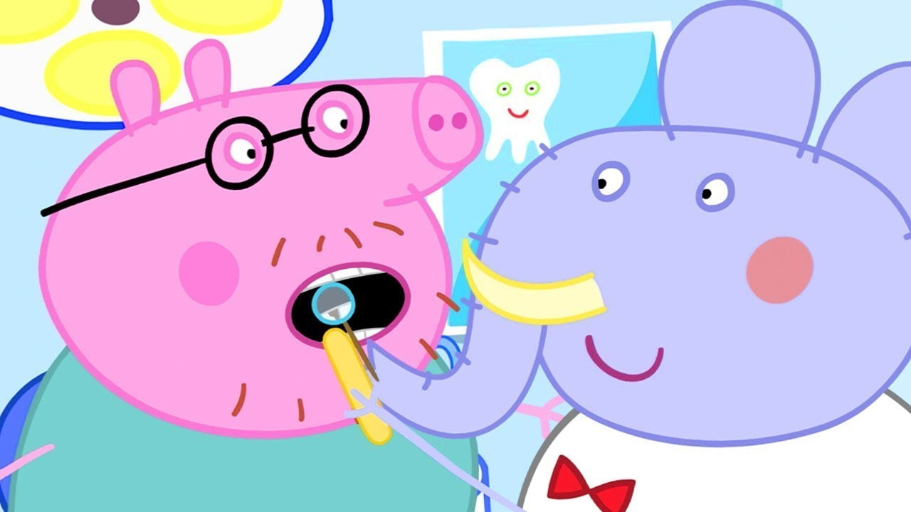 Peppa Pig Visits the Dentist | Peppa Pig Official Channel
