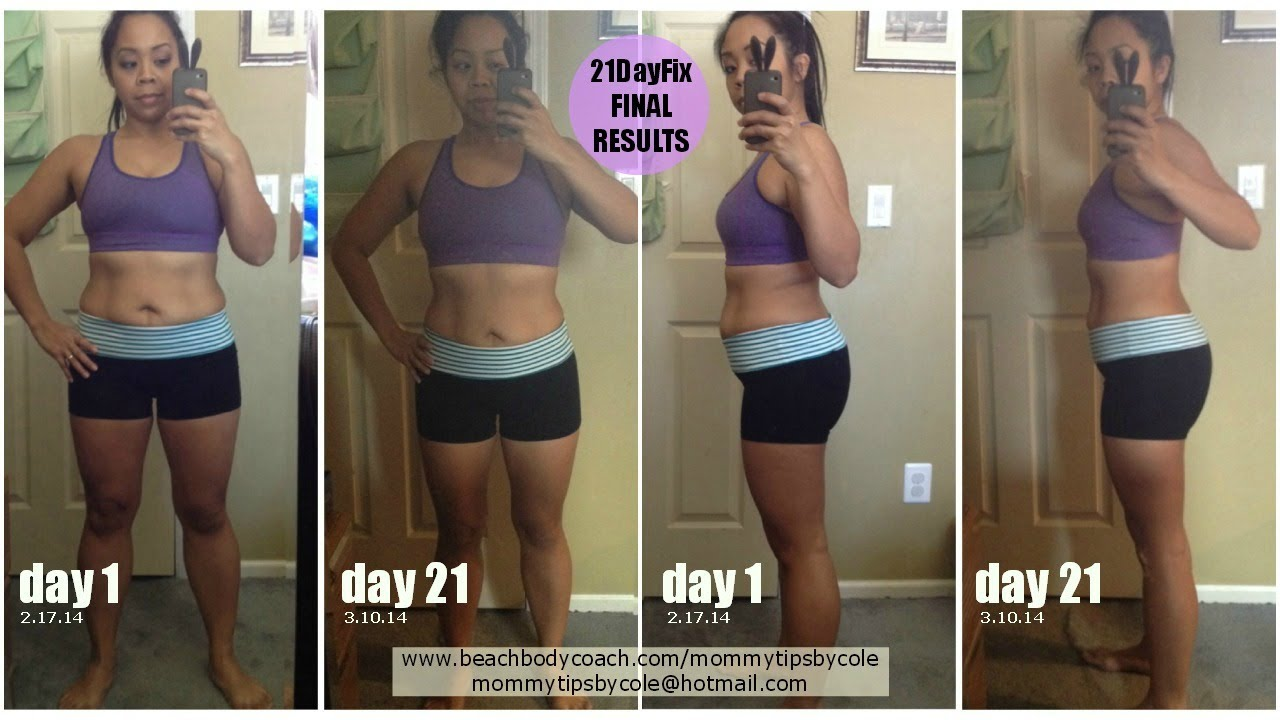 21 Day Fix Final Results Week 3 Experience Before