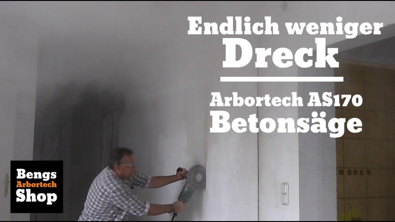 mauerdurchbruch staubfrei beton schneiden mit arbortech as170. Black Bedroom Furniture Sets. Home Design Ideas