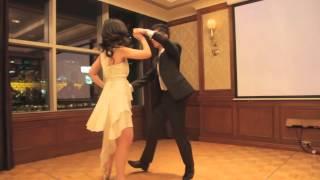 Slow dance mixed into salsa wedding dance