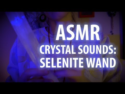 ASMR Crystal Sounds: Selenite Wand for Cleansing and Relaxation