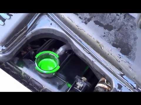Car Coolant / Anti-Freeze Replacement DIY Maintenance on Mazda Familia