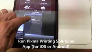Pixma   MG2900 series unpacking, setting up to wifi with smartphone tablet, printer information page