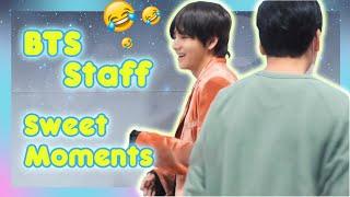 BTS \u0026 BigHit staff sweet moments #BTSCuteMoments