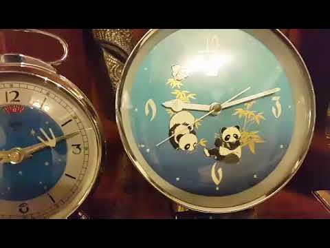 Vintage Animated Shanghai China Alarm Clocks