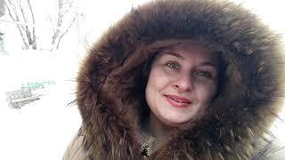 Один день из жизни в Сибири. Друзья пригласили в гости. Открытие  шашлычного сезона. Сугробы снега.