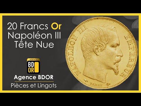 20 Francs Or Napoléon Tête Nue - Pièce Louis d'Or 1853 à 1860 - BDOR