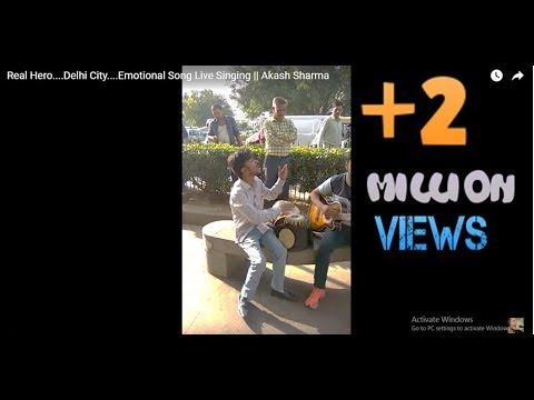 Real Hero....Delhi City....Emotional Song Live Singing || Akash Sharma