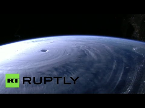 Space footage: Huge Typhoon Maysak moves closer to Philippines