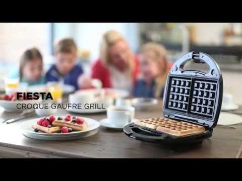 croque gaufre grill fiesta youtube. Black Bedroom Furniture Sets. Home Design Ideas