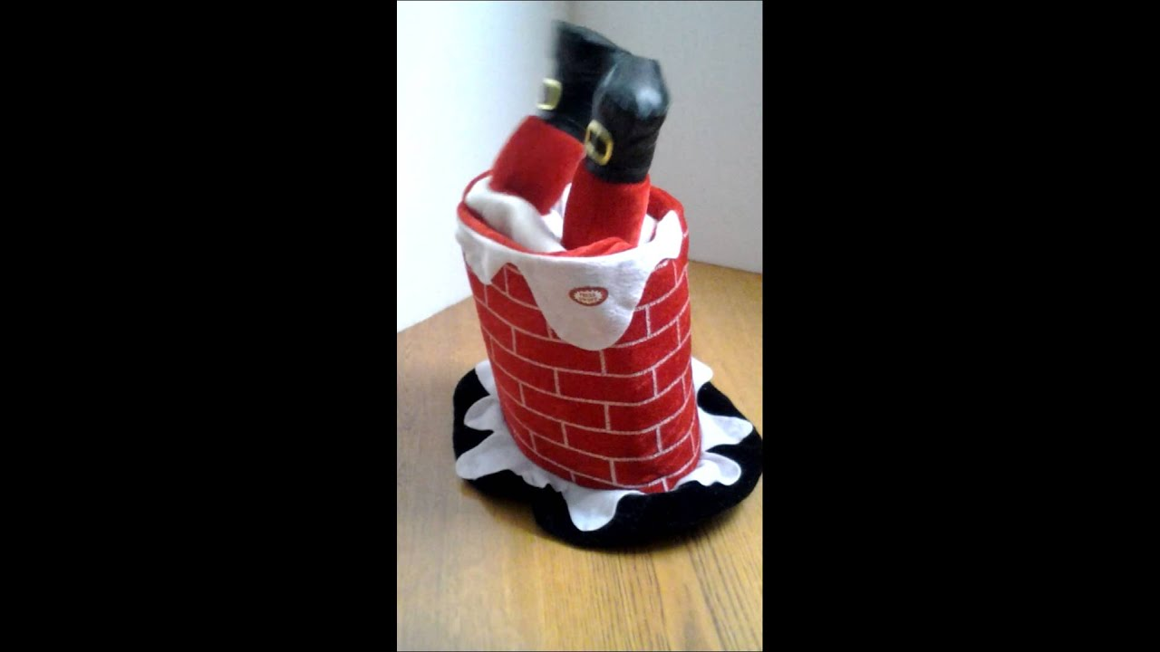 Santa Fell In The Chimney Animated Musical Christmas Hat