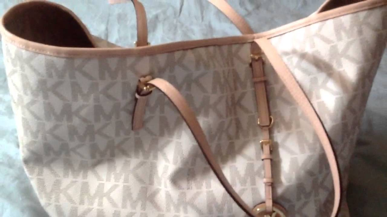 480753c5faec Micheal Kors Vanilla tote review (requested) - YouTube