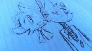 Tutoriales como dibujar a mangle y foxy