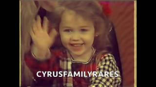 Miley Cyrus 1996 making funny faces and picks her nose