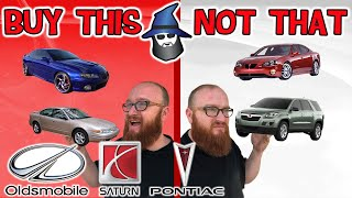 The CAR WIZARD shares the top Oldsmobile Pontiac & Saturns TO Buy & NOT to Buy