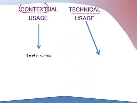 Contextual and Technical Usage
