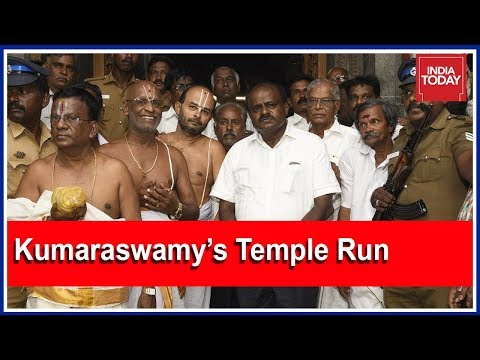 Kumaraswamy's Temple Run And Date With The Gandhis Amid Power Struggle With Congress