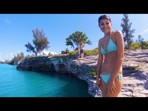 Epic Cliff Jumping & Snorkeling in Bermuda Triangle 2017!