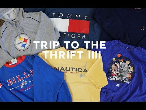 Trip To The Thrift #4 | Tommy Hilfiger, Nautica, Space Jam Jordan!