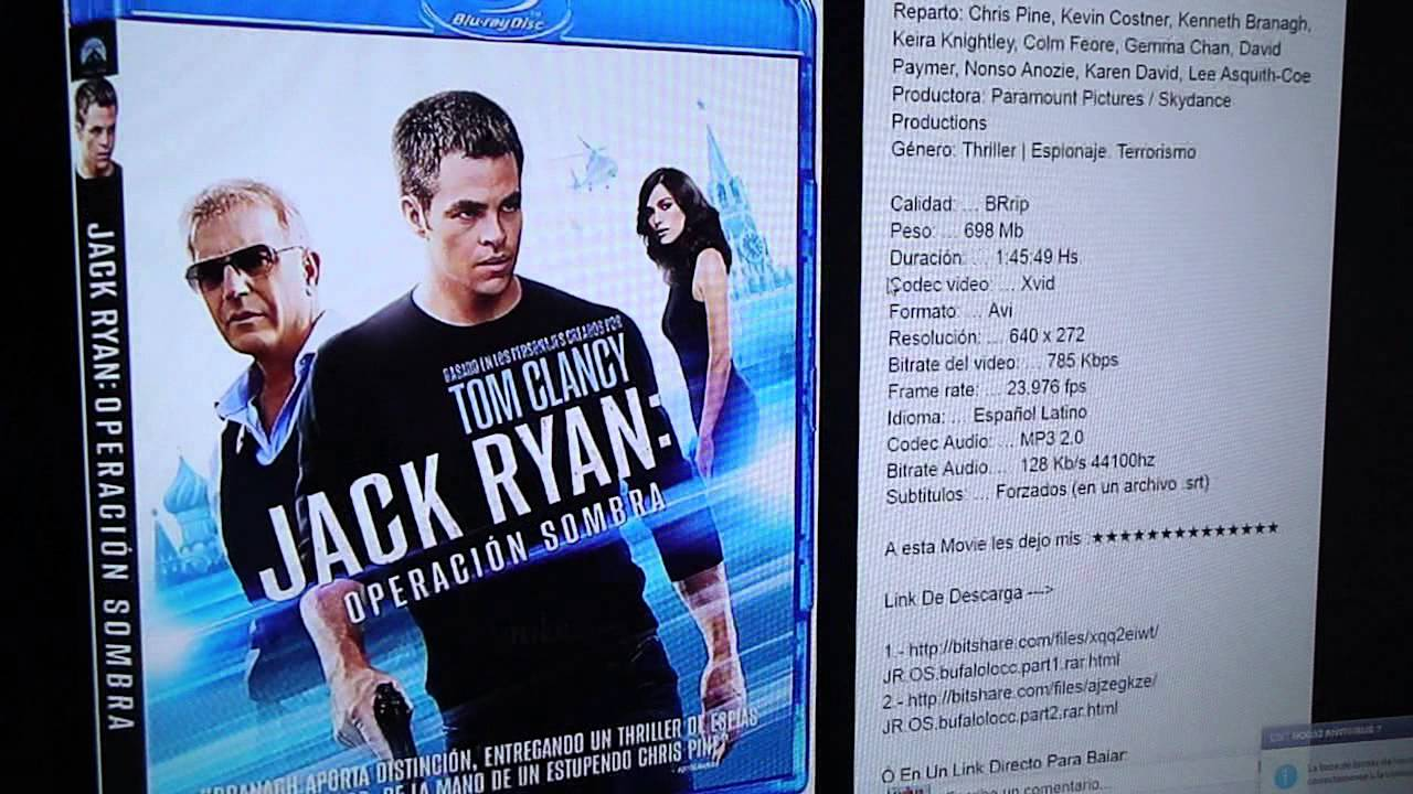 Download JACK RYAN: OPERACIÓN SOMBRA - [2014] [Audio Latino] [BRrip] [2 Link] [BITSHARE]