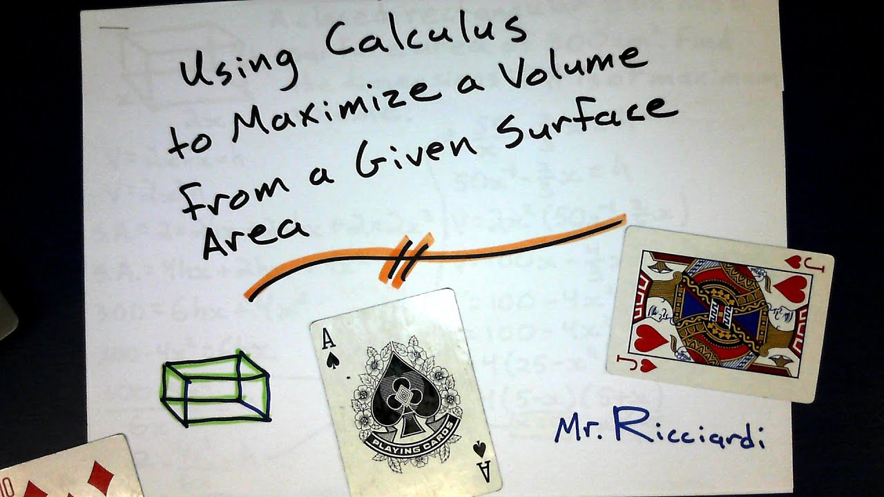Finding The Maximum Volume With A Given Surface Area Of A Rectangular Prism