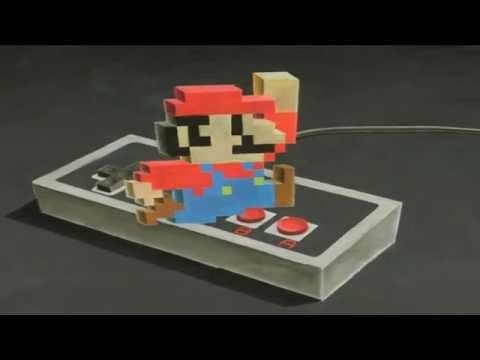 Vẽ Mario 2.5D bằng... phấn!