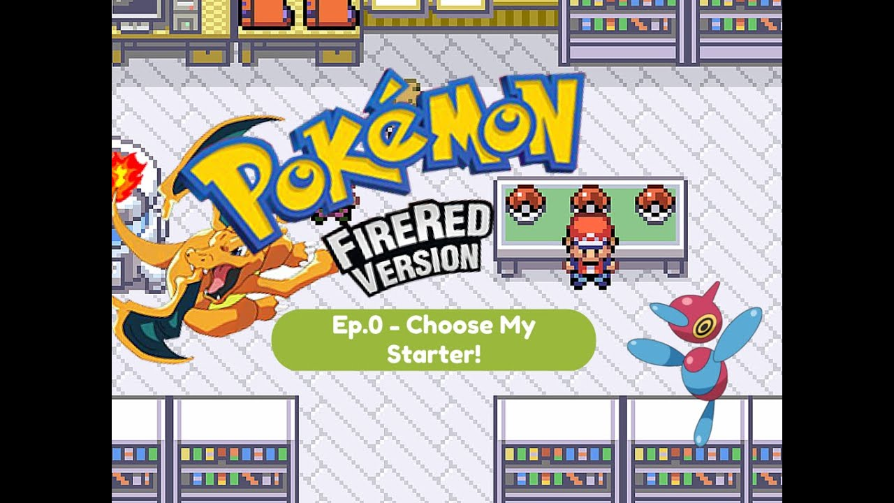 how to catch all starters in fire red