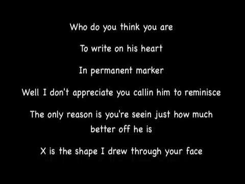 Taylor Swift - Permanent Marker (Lyrics)