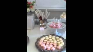 Vintage elegant Bridal Shower Dessert Table