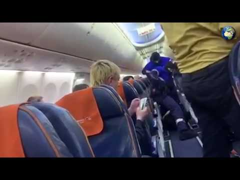 Видео задержания захватчика самолета Сургут - Москва
