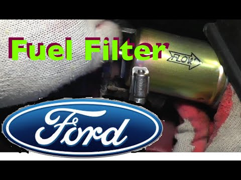 Ford Fuel Filter Replacet - Windstar - YouTube