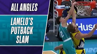 All-Angles: LAMELO FOLLOWS IN & SPIKES IT! #NBARooks