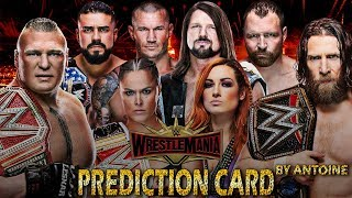 WWE WRESTLEMANIA 35 MATCH CARD PREDICTION by ANTOINE