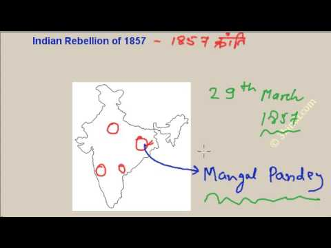 Revolt of 1857 history in hindi -1857 Indian rebellion - Mangal Pandey, Bahadur Shah, Lakshmibai