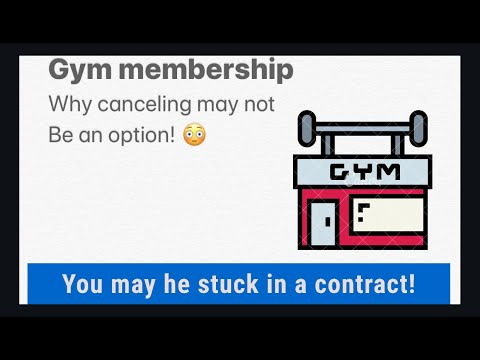 Canceling A Gym Membership!