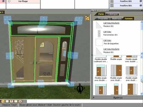 3d home design by livecad customizable doors youtube. Black Bedroom Furniture Sets. Home Design Ideas