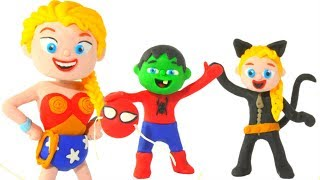 FUNNY KIDS WEAR COSTUMES ❤  Play Doh Cartoons For Kids